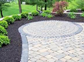patio paver design ideas love the contrast of the rocks