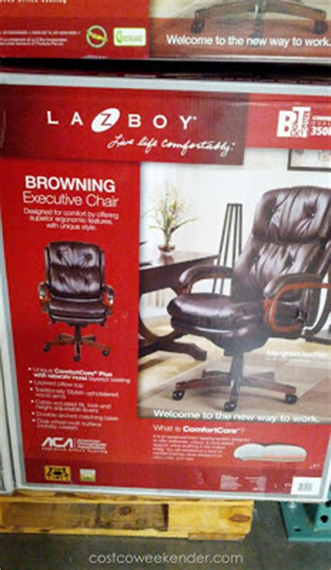 la z boy browning leather executive office chair costco
