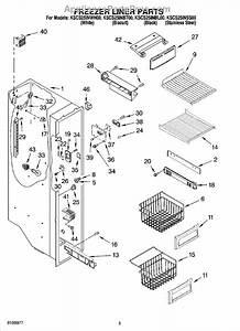 Parts For Kitchenaid Kscs25inss00  Freezer Liner Parts