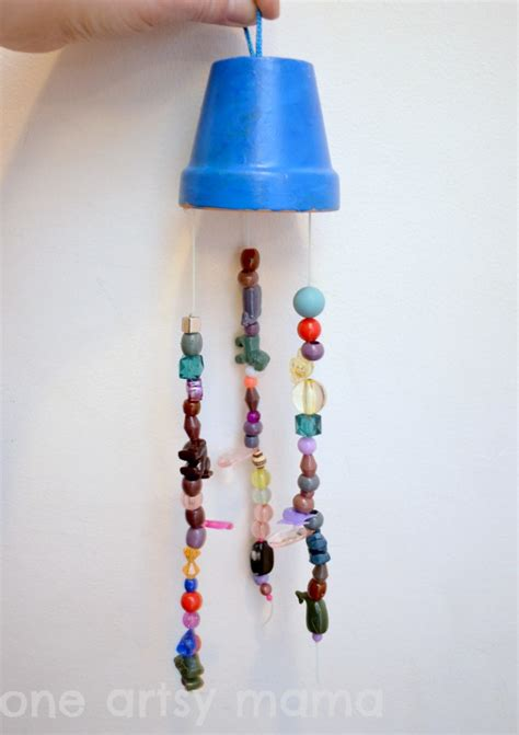beaded wind chime fun family crafts
