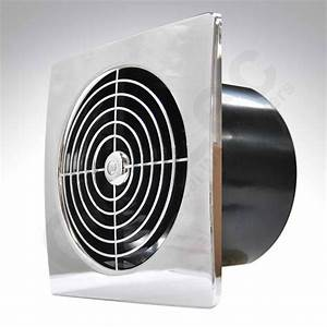 Manrose Low Profile Six Inch Chrome Extractor Fan With