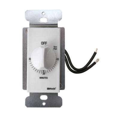 bathroom fan timer switch home depot woods 30 minute in wall spring wound countdown timer