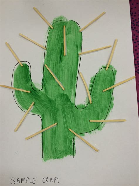 wild west theme preschool west craft made by painting a cactus template gluing 136