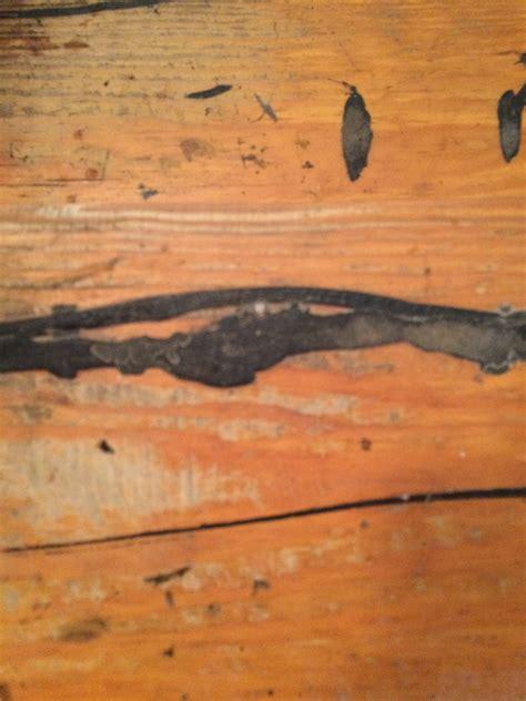 hardwood floor carpet pad adhesive type identification