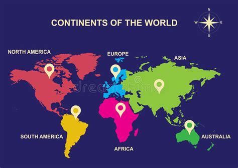 Kontinenter Av Världen, Kontinenter, Asien, Europa ...