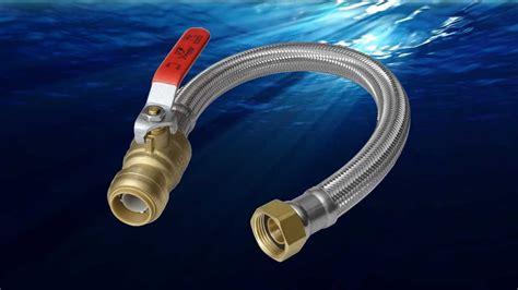 water heater sharkbite connectors install steel