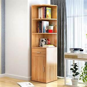Large, Stylish, Wooden, Corner, Shelf, Unit, With, Cabinet, U0026, Drawer