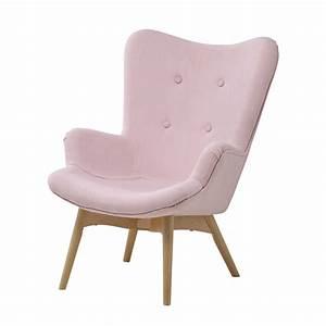 Fauteuil Enfant Fille : fauteuil vintage enfant en tissu rose iceberg maisons du monde ~ Teatrodelosmanantiales.com Idées de Décoration