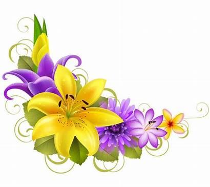 Fiori Flowers Clipart Motivi Angolo Ad Floreali