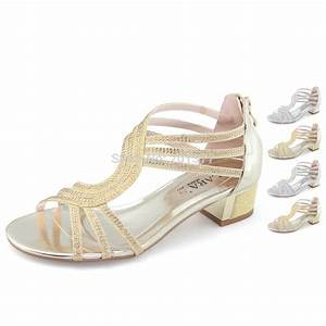 laras ladies womens medium kitten low heels sandals With silver dress sandals wedding