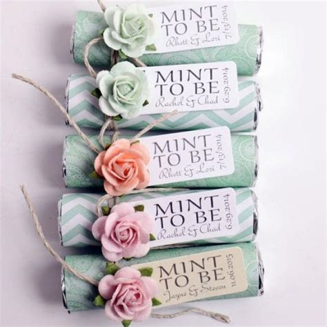 mint wedding favors set of 100 mint rolls quot mint to be quot favors with personalized tag mint