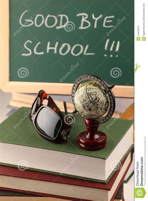 good bye school stock  image