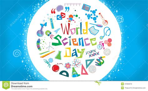 paper clip magnet world science day stock illustration image 47093370