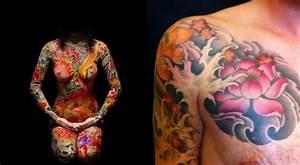 Tatouage Homme Japonais : le lotus revient souvent dans l 39 imagerie asiatique c 39 est le symbole de l 39 veil spirituel et ~ Melissatoandfro.com Idées de Décoration