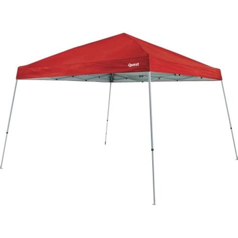 quest 10x10 instant up canopy 10 x 10 pop up canopy tent slant leg shade cover