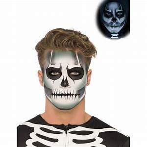 Maquillage Squelette Facile : maquillage halloween pour homme a barbe ~ Dode.kayakingforconservation.com Idées de Décoration