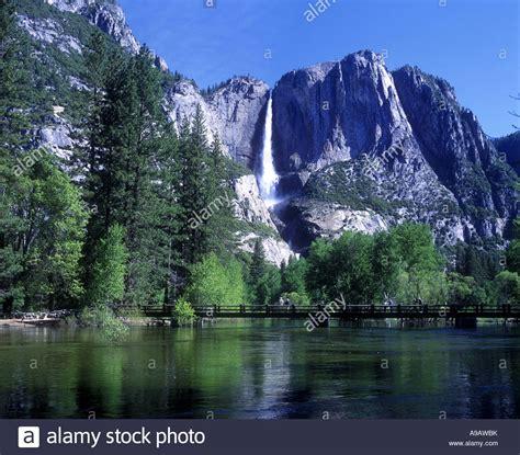 Scenic Upper Yosemite Waterfall Merced River