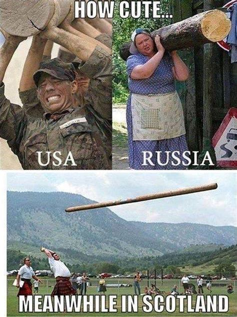 Scottish Meme - how cute usa vs russia vs scotland