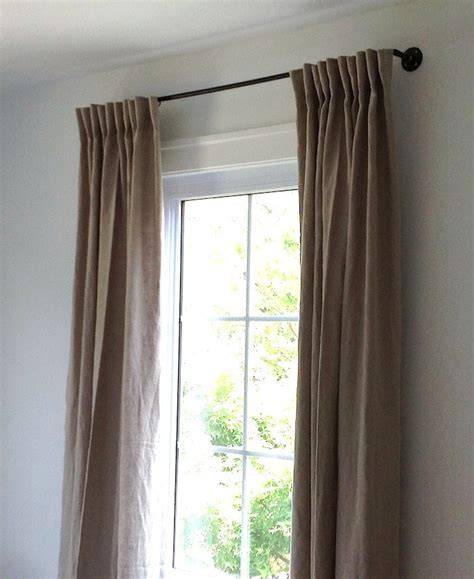 Black Linen Curtains designstream diy the copper pipe curtain rod for 35