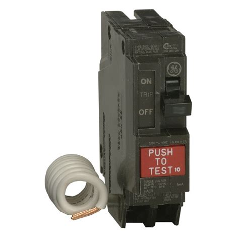 gfci circuit breaker shop ge q line thql 20 amp 1 pole ground fault circuit breaker at lowes com