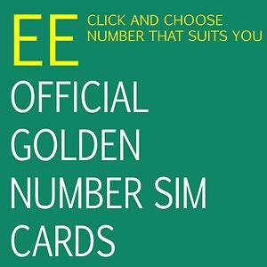 Ee Mobile Number by Ee Sim Cards Official Vip Golden Mobile Phone Number Ebay