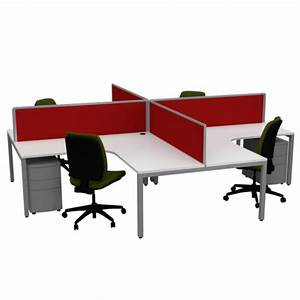 Office 4 Sale : cubit 4 way pod workstation office desks with screens ~ Pilothousefishingboats.com Haus und Dekorationen