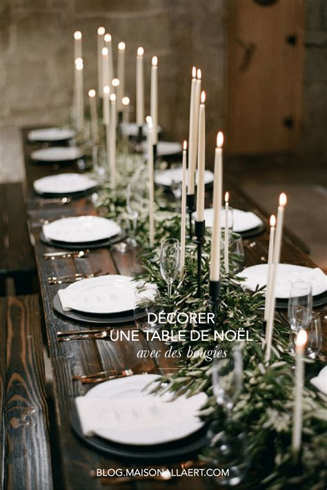 comment decorer une table de noel naturelle  originale