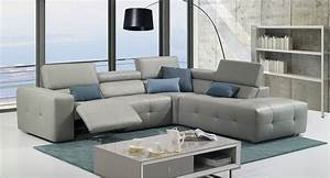 grey italian leather tufted sectional with recliner With grey leather sectional sofa with recliners