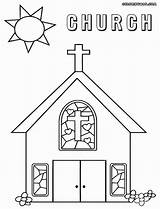Church Coloring Catholic Drawing Outline Children Faith Sheets Sunday Printable Crafts Building Colord Ready Lds Bible Jesus Ages Clipart Childrens sketch template