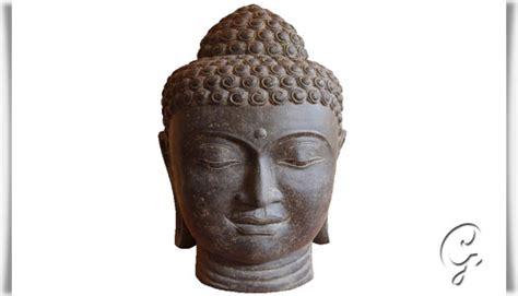 Grosser Buddha Für Den Garten by Einzigartiger Buddhakopf Aus Steinguss Kashyapa