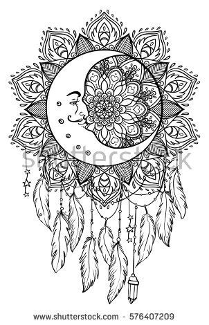 Hand Drawn Native American Indian Talisman Stock Vector 576407209 - Shutterstock