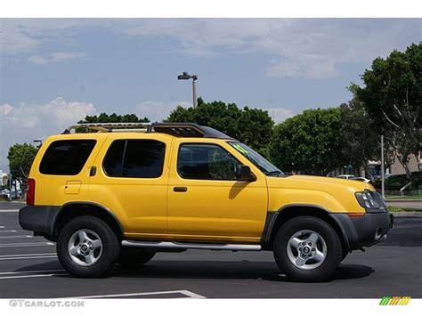 nissan yellow solar yellow 2002 nissan xterra xe v6 exterior photo