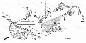Honda Atv 2009 Oem Parts Diagram For Headlight