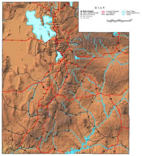 utah map  maps  utah state