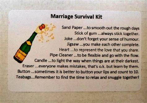 marriage survival kit bride groom couple engagement