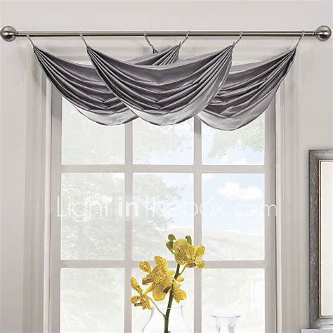 Solid Gray Valance by Contemporary Grey Solid Waterfall Valance 25wx16 Quot L One