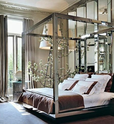Currently Obsessed  Silver Canopy Bed  Preciously Me. Mirror Nightstands. Wood Hood. Family Room Designs. Karastan Carpet Reviews. Corner Cabinet Kitchen. Shop Houzz. King Head Board. Modern China Cabinet