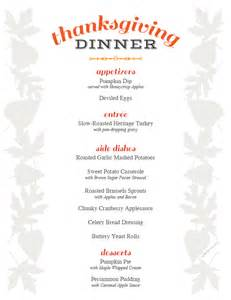 free printable thanksgiving menu and place cards idea pros
