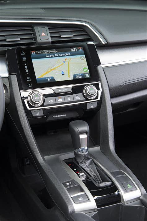 honda civic sedan center console unveiled