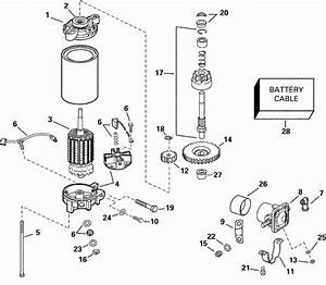 Johnson Electric Starter And Solenoid Parts For 2000 115hp