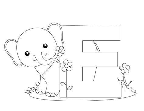 Coloring Letter E by Free Printable Alphabet Coloring Pages For Best