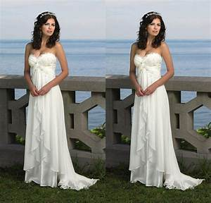 2015 chiffon beach wedding dresses cheap a line maternity With chiffon beach wedding dress