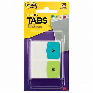 post it preprinted filing tabs letters a z 2 blank 1 x 1 With letter post its
