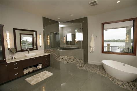Modern Bathroom Finishes by Custom Home In St Petersburg Fl