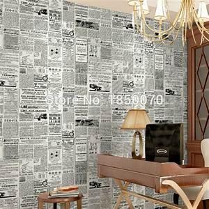 Aliexpress.com : Buy High quality PVC wallpaper newspaper ...