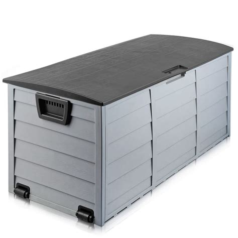black outdoor storage box  large capacity