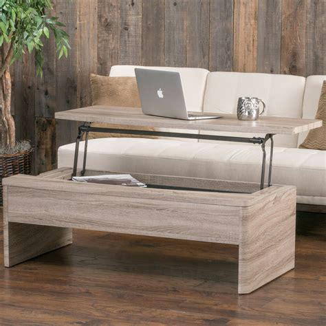 xander functional lift top wood storage coffee table by