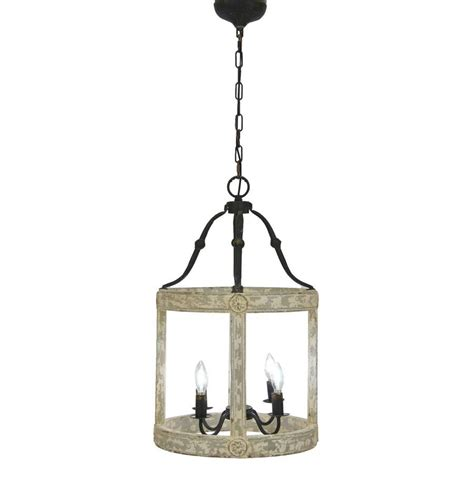 Lincoln 4 Light Wood Iron Lantern Rustic lanterns