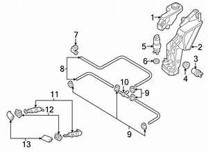 8e0955102f - Headlight Washer Nozzle
