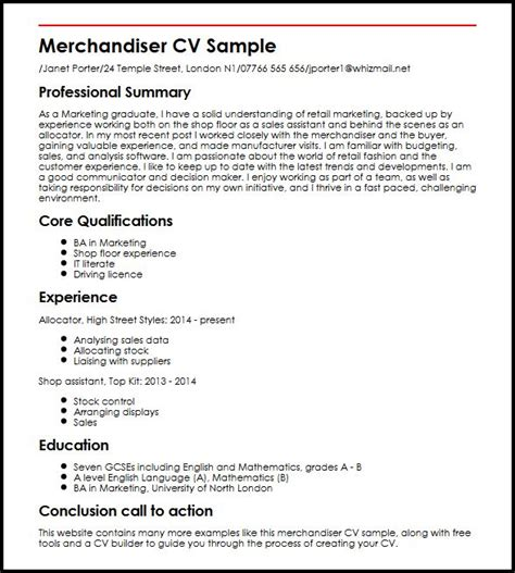 Supervisor resume summary